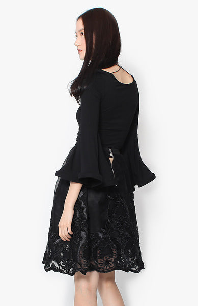 Jada Lace Skirt - Black