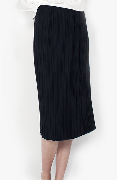 Sylvie Pleat Skirt - Black