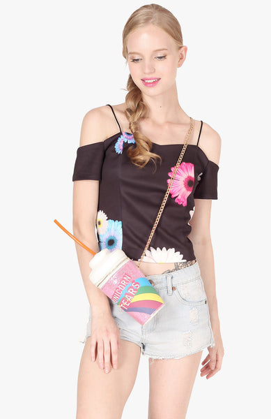 Flower Power Top - Black