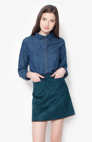 Mila Chambray Blouse