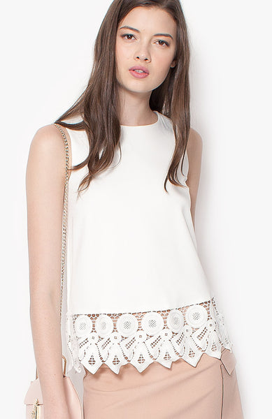 Circles Blouse - White