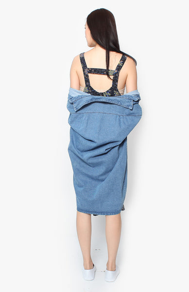 Maisie Pinafore Dress - Grey