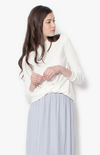 Valencia Knit Top - White