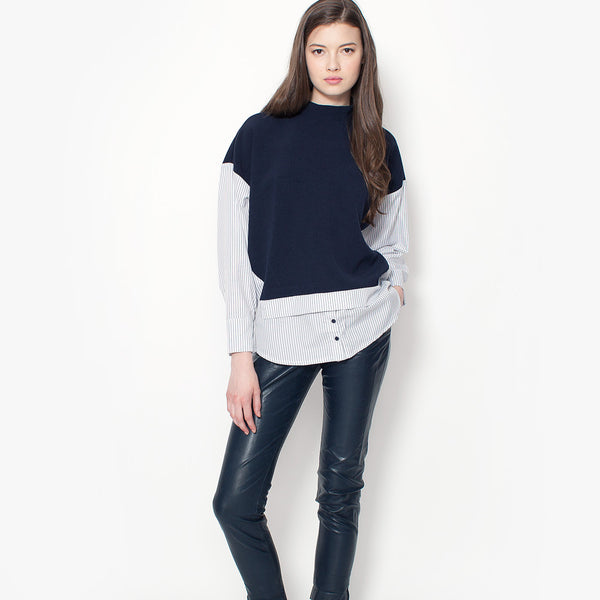 Turner Stripe Top - Navy