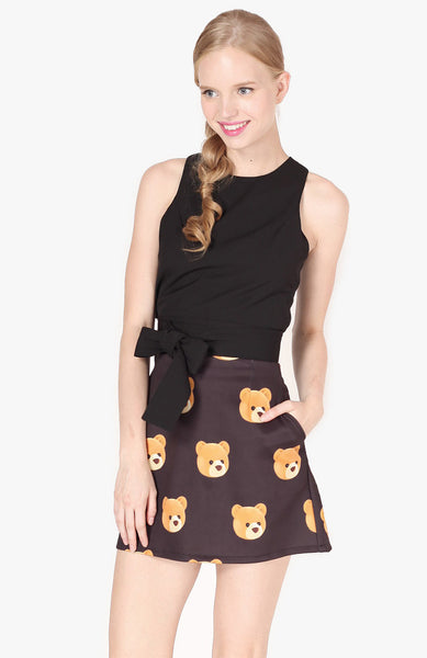 Ted A-Line Skirt - Black