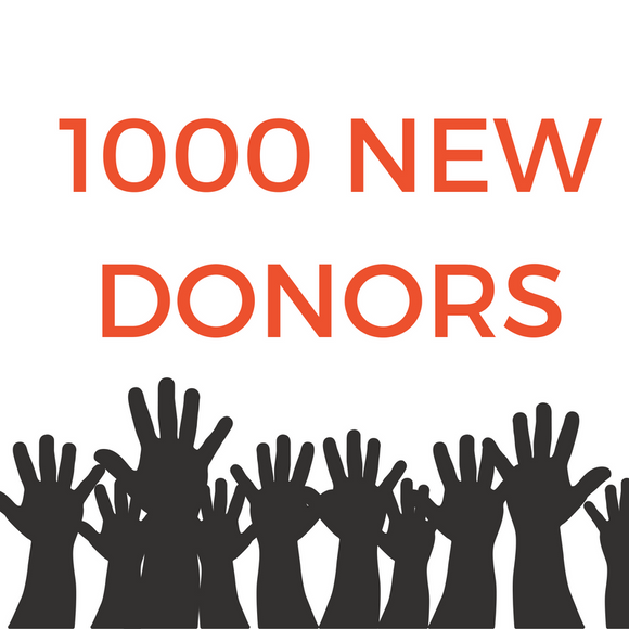 Getting 1000 New Donors