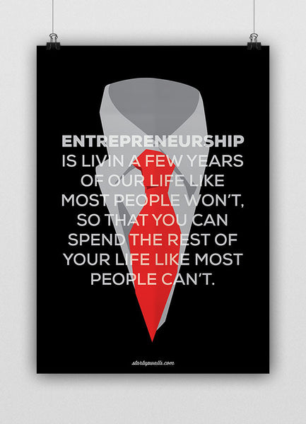 ENTREPRENEURSHIP IS LIVING…