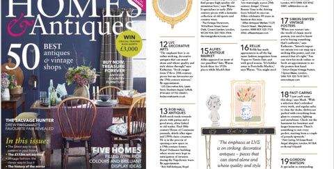 Bets 50 antiques shops in UK, Homes & Antiques Magazine