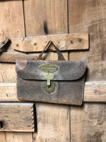 19th c leather merchant's bag
