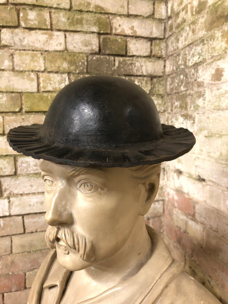 19th century leather costermonger's hat