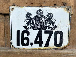 1930s London Hackney Carriage Plate