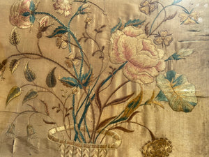 A George III silkwork of flowers