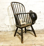 Early 19th century large West Country Windsor child's chair