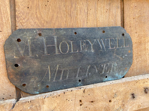 An English Regency copper trade sign from Lincolnshire c. 1815