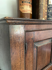 Georgian oak bureau bookcase of good colour