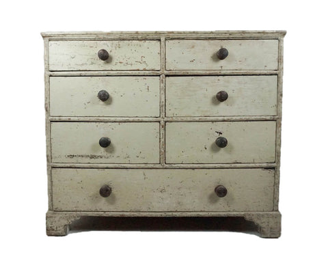 Large Regency chest of drawers in original paint
