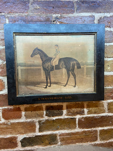 19th century aquatint of Rockingham, winner of the St Leger Stake at Doncaster