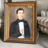19th c French school portrait of a gentleman