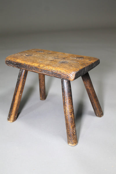 A fine early 19th c ash stool