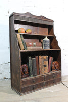 Early  19th c waterfall bookcase of smaller proportions