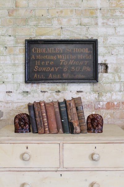 19th century Cholmley School sign, Whitby
