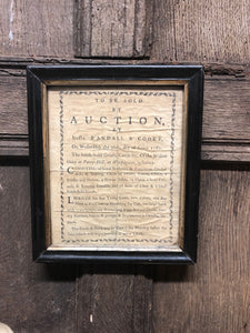 George III auctioneer's handbill