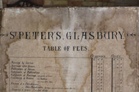 19th century church table of fees