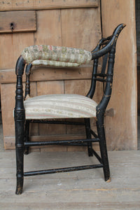 Reserved - Regency faux bamboo chair c. 1825