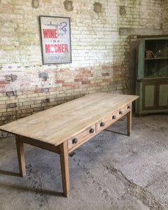 Large 19th century West Country preparation or kitchen table
