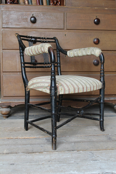 Regency faux bamboo chair c. 1825