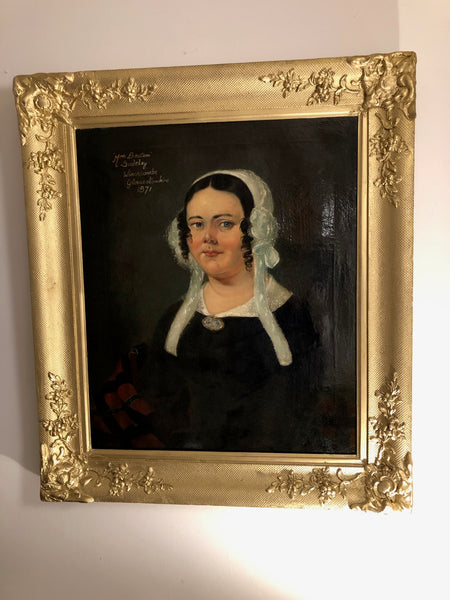 Portrait of a Mrs Beaton of Sudeley, Winchcombe, Gloucestershire