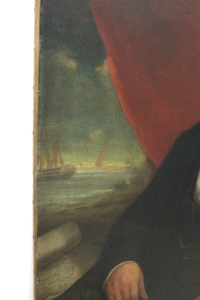A large 19th century portrait of a ship's captain