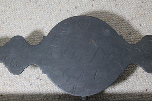 Rare Scottish blacksmith made fireside fender by Joseph Heughan of Auchencairn