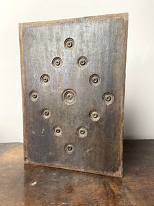 17th century Welsh oak panel with bullseye decoration (1 of 2)