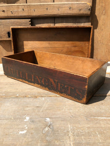 A rare Victorian quilling storage box in the original paint