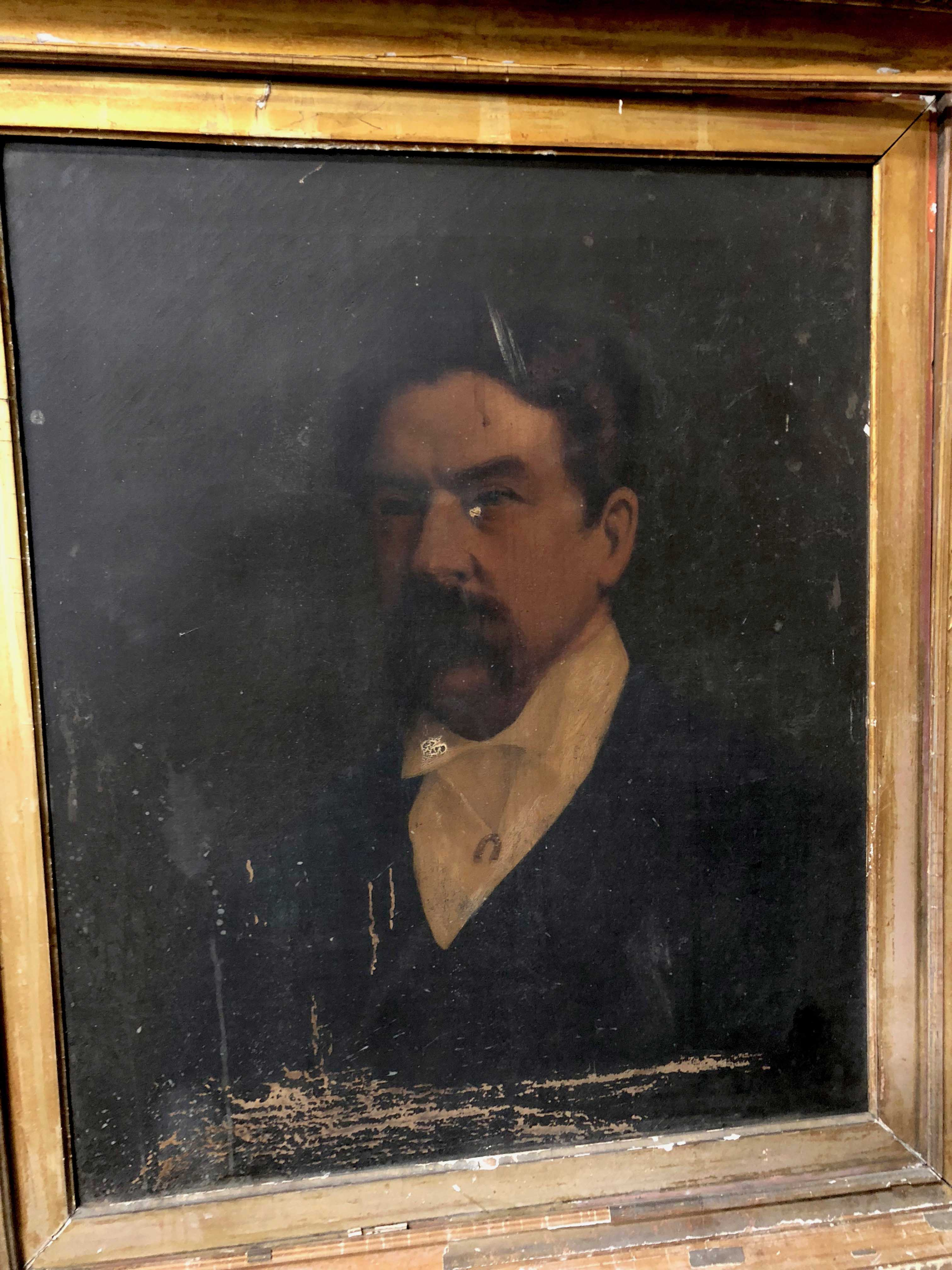 19th century portrait of a gentleman with a horseshoe