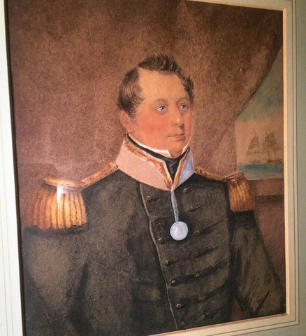 Early 19th century watercolour of a ship's captain