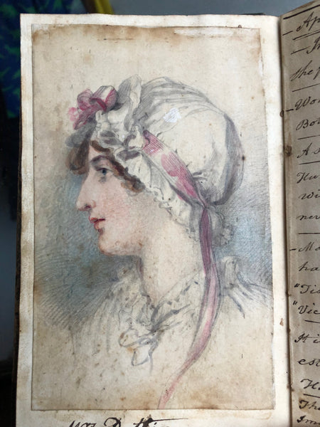 Rare regency journal of a lady including watercolour studies