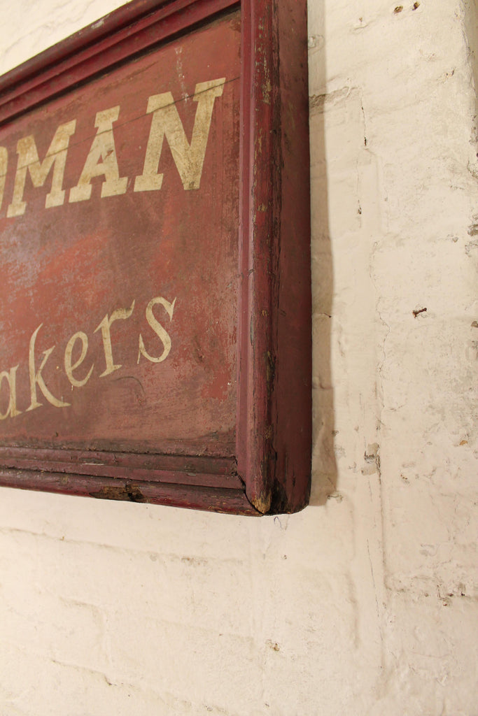 1930s English wooden bakery sign