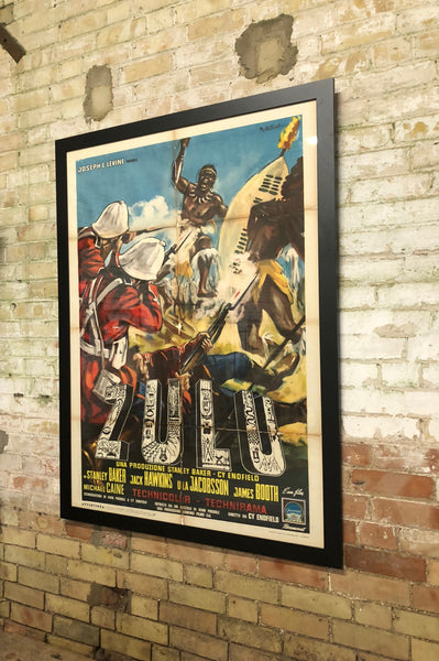 Large Original Zulu Movie Poster Rob Hall Antiques
