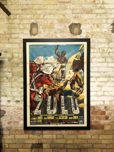 Large original 'Zulu' movie poster