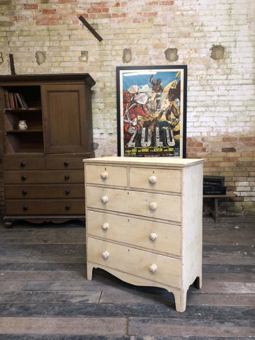 Regency chest of drawers in original paint