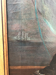 A large pair of portraits of a ship's captain and his wife