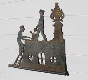 19th Frenc zinc weathervane in the original paint