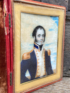 Miniature of a Royal Navy ship's captain by Charles Foot Tayler c. 1820