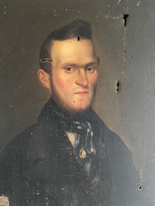 19th century French school portrait of a gentleman