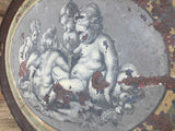 Early 19th c French tole tray with a scene after Rubens