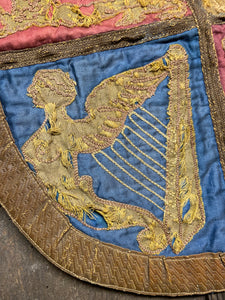 An early 19th century embroidered Royal Standard