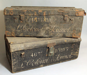A pair of Lt Colonel Jouinot's travelling trunks