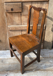 A simple Georgian oak chair